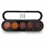 Палетка помад, 5 цветов Make-Up Atelier Paris №16 золотой песок 10 г: фото