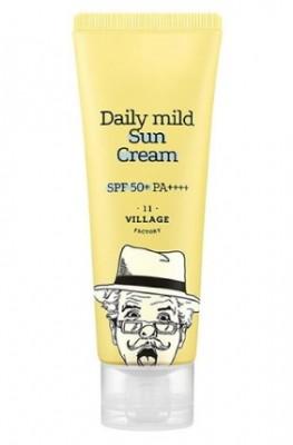 Солнцезащитный крем VILLAGE 11 FACTORY Daily Mild Sun Cream SPF 50+: фото