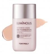 Тональная основа TONY MOLY Luminous goddess aura silk foundation 01 Skin Beige 45 мл: фото