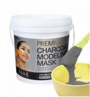 Альгинатная маска с древесным углем LINDSAY Premium charcoal modeling mask pack 820г.: фото