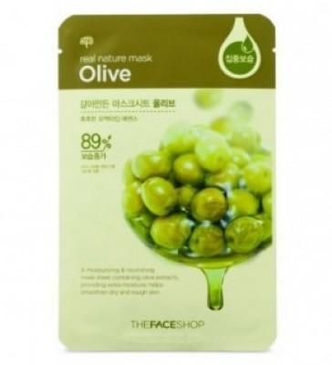 Маска с экстрактом оливы THE FACE SHOP Real nature mask sheet olive 20г: фото