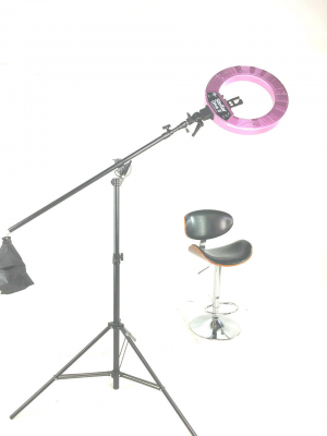 Кольцевая лампа Stellar LED Diva Ring light + Boom Stand White: фото