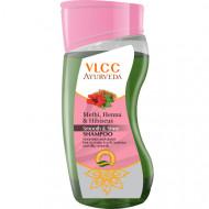 Шампунь для придания волосам гладкости и блеска VLCC Аюрведа Пажитник Хна Гибискус 100 мл: фото