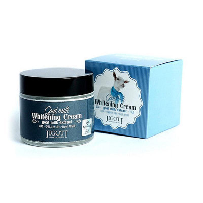 Крем осветляющий с экстрактом козьего молока JIGOTT Goat Milk Whitening Cream: фото