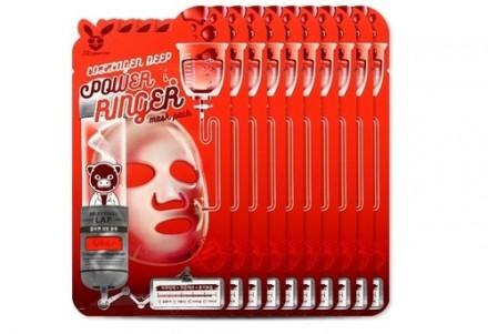 НАБОР Тканевых масок с Коллагеном Elizavecca COLLAGEN DEEP POWER Ringer mask pack 23мл*10шт: фото