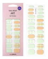 Наклейки для ногтей THE SAEM Nail Wear Art Gel Sticker 09 Nude Mint Check: фото
