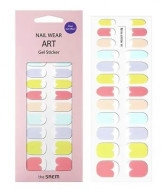 Наклейки для ногтей THE SAEM Nail Wear Art Gel Sticker 08 Rainbow Pastel: фото