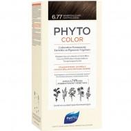Краска для волос PHYTOSOLBA PHYTO COLOR 6.77 Светлый каштан - капучино: фото